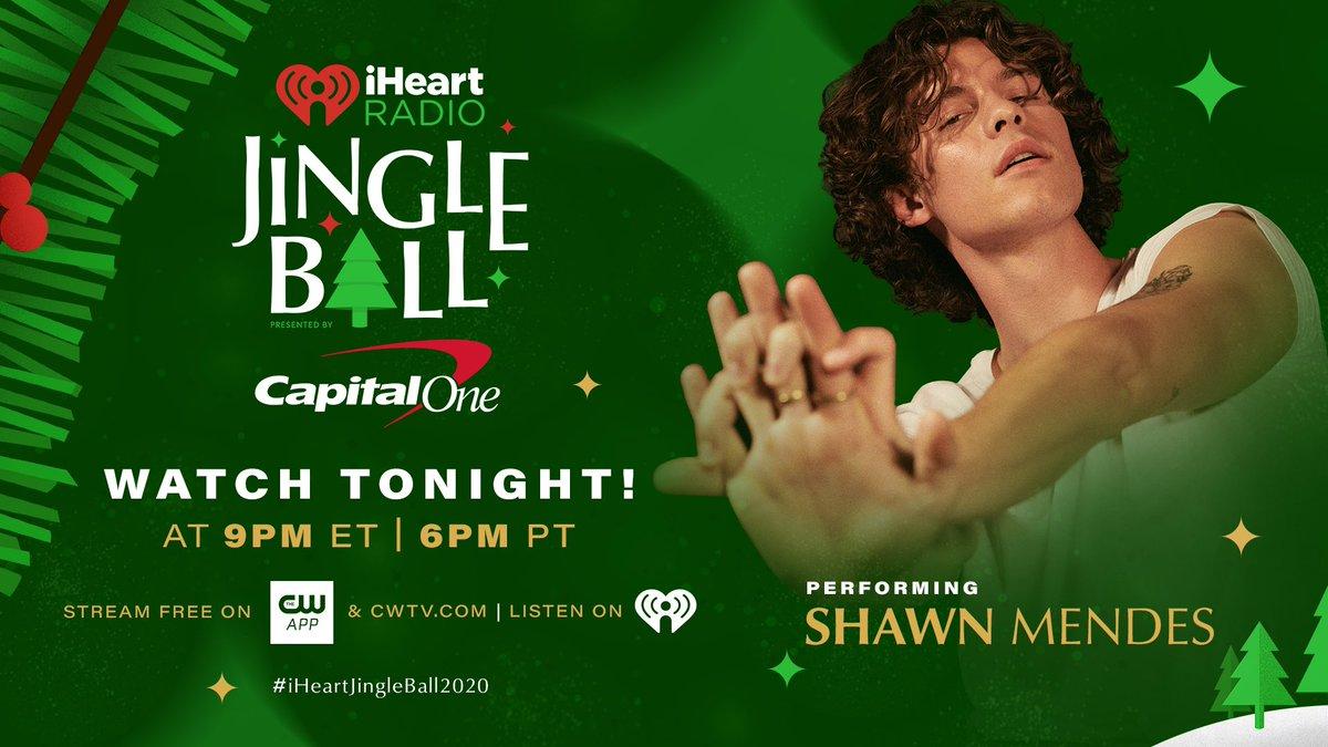 Tonight 9pm ET! @ShawnMendes @iHeartRadio #iHeartJingleBall2020
