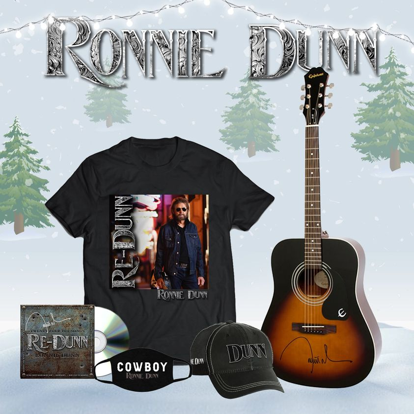 🎄 Order your official Ronnie Dunn merchandise by tomorrow, December 11th and receive by Christmas! 🎄 Shop here: