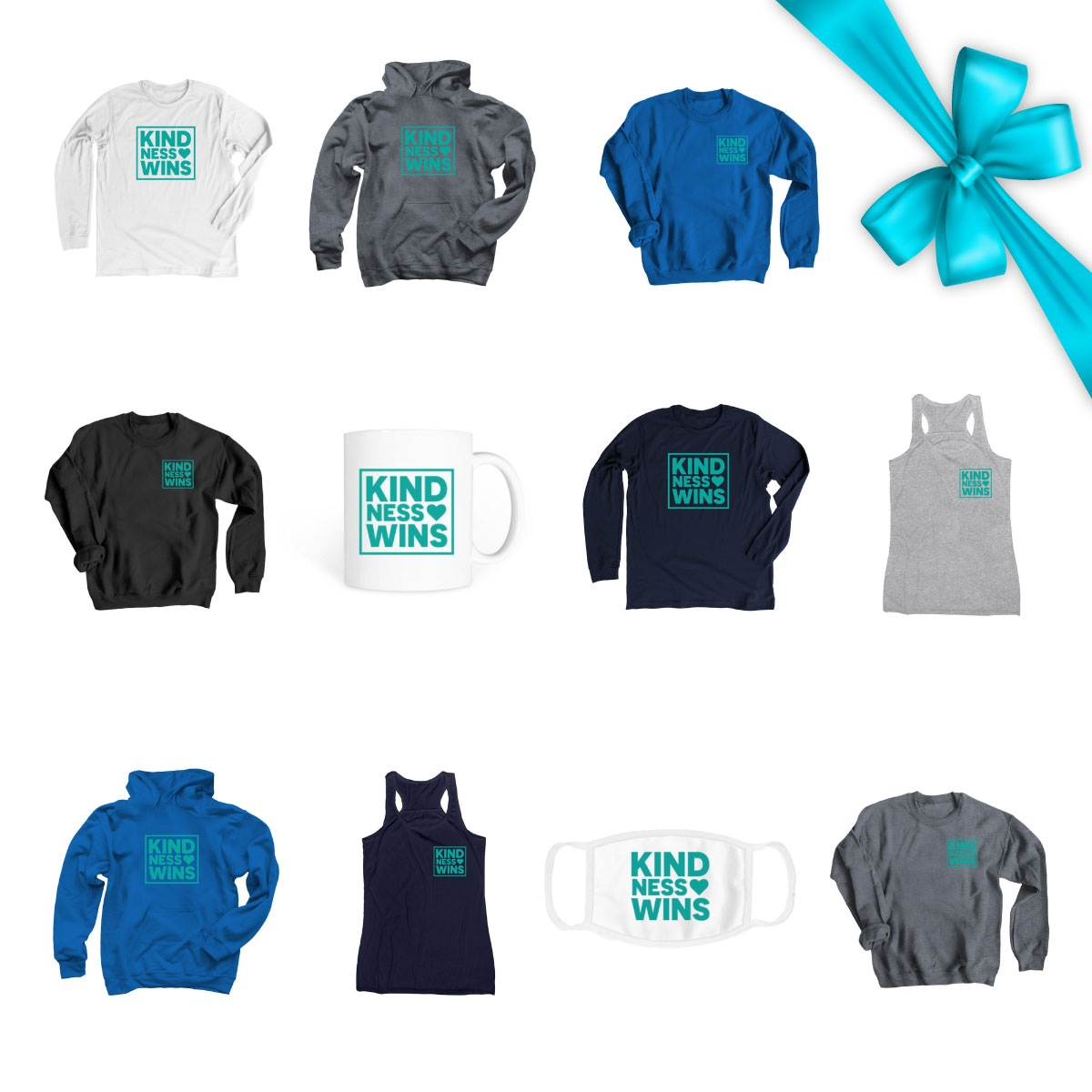 """Tis the season to spread some #kindness! 🎁  Shop our Kindness Wins store for everyone who made your """"good"""" list this year. Proceeds  go back to @Madison_Keys @MikaelaShiffrin @OksanaMasters initiatives to spread kindness to the masses."""