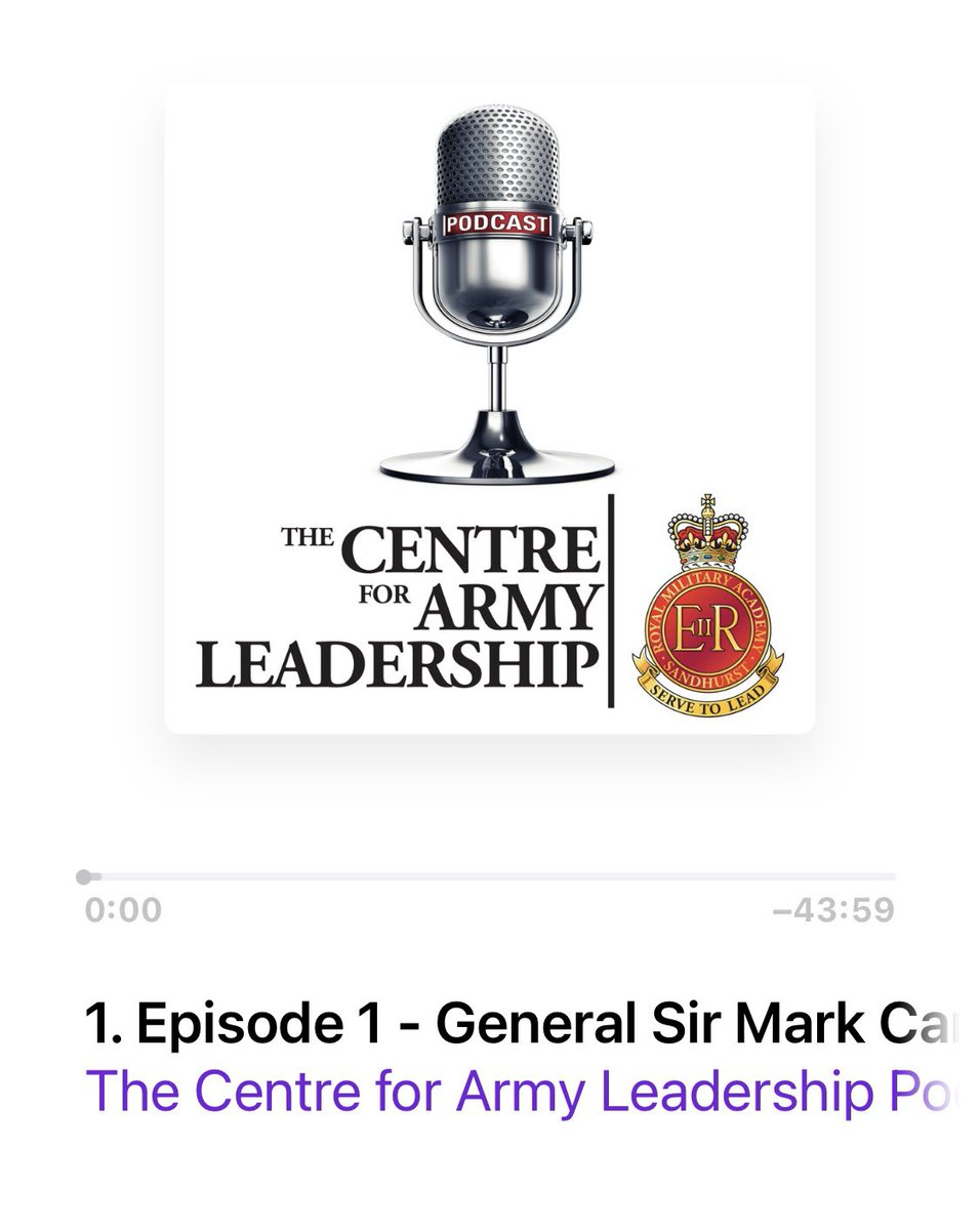 Let's have a listen to the new podcast series from @Army_Leadership 🎧