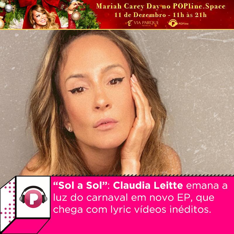 """O novo EP de @ClaudiaLeitte, """"Sol a Sol"""", já está iluminando as plataformas de streaming por ai. O projeto chega acompanhado de  lyric videos inéditos. Confira todas as novidades no site:"""