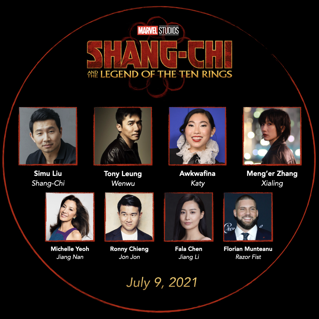 Volledige Aziatische cast van Shang-Chi and the Legend of the Ten Rings door Marvel Studios