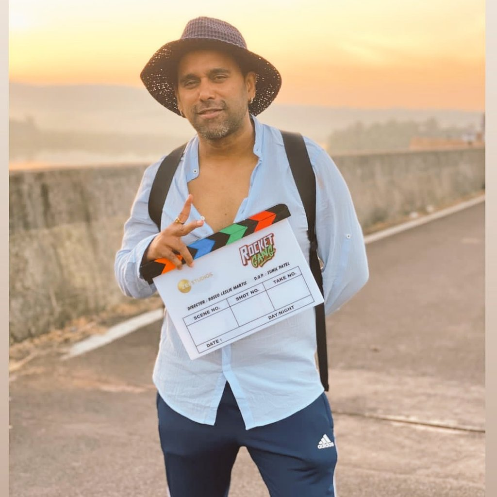 Congrats Bosco Sir 4 Ur Directional Debut So The Rocket Is On All The Vry Best To Entire Team Of #RocketGang Love U Al @BoscoMartis @csgonsalves @AdityaSeal_ @nikifyinglife @ZeeStudios_ #bcdc #boscocaesarcompany All The Best Bosco Sir We R Waiting For A Blockbuster #Blockbuster
