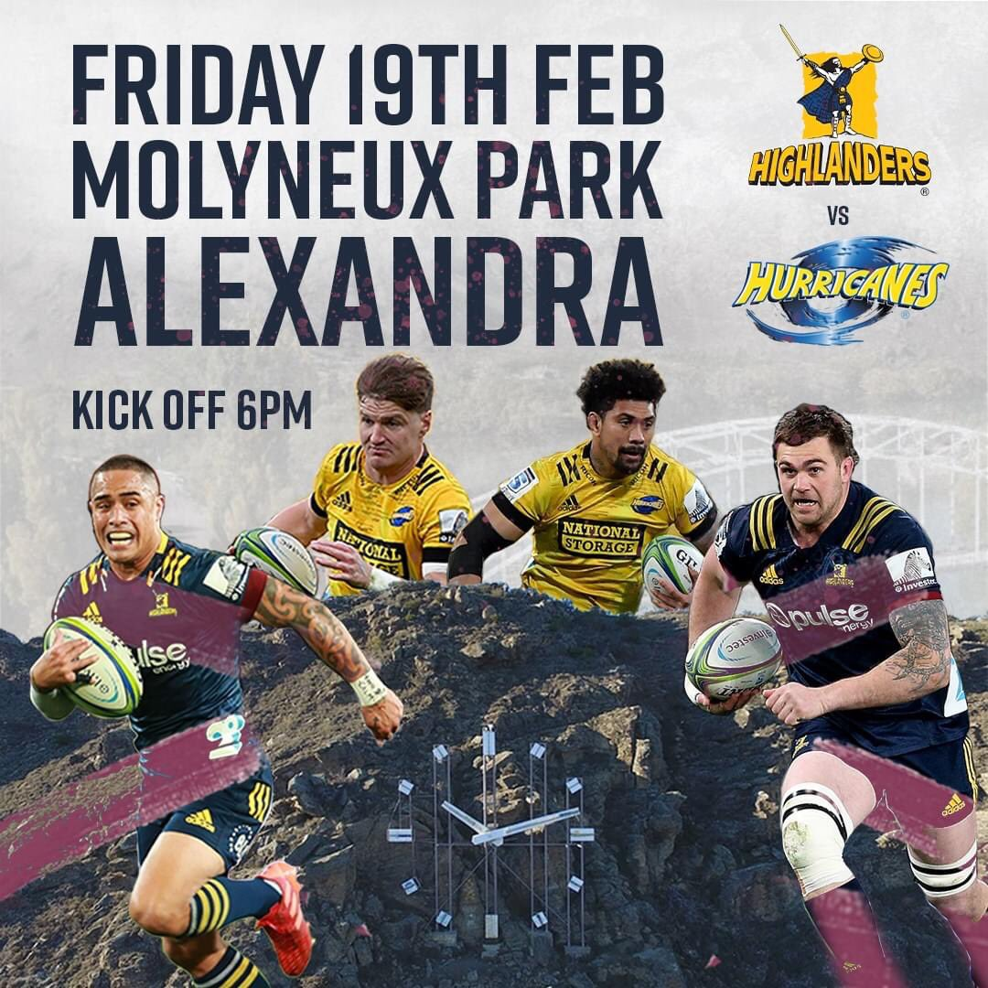 🚨 ANNOUNCEMENT 🚨  We are back! Sky Super Rugby Aotearoa preseason returns to Alexandra when we take on the Hurricanes on Friday 19th February 💥 Kick-off 6pm ⏰  🎟: Tickets on sale early February  Full Release: https://t.co/EAEV8fZdff  #WeAreHighlanders https://t.co/iEKni2jVup