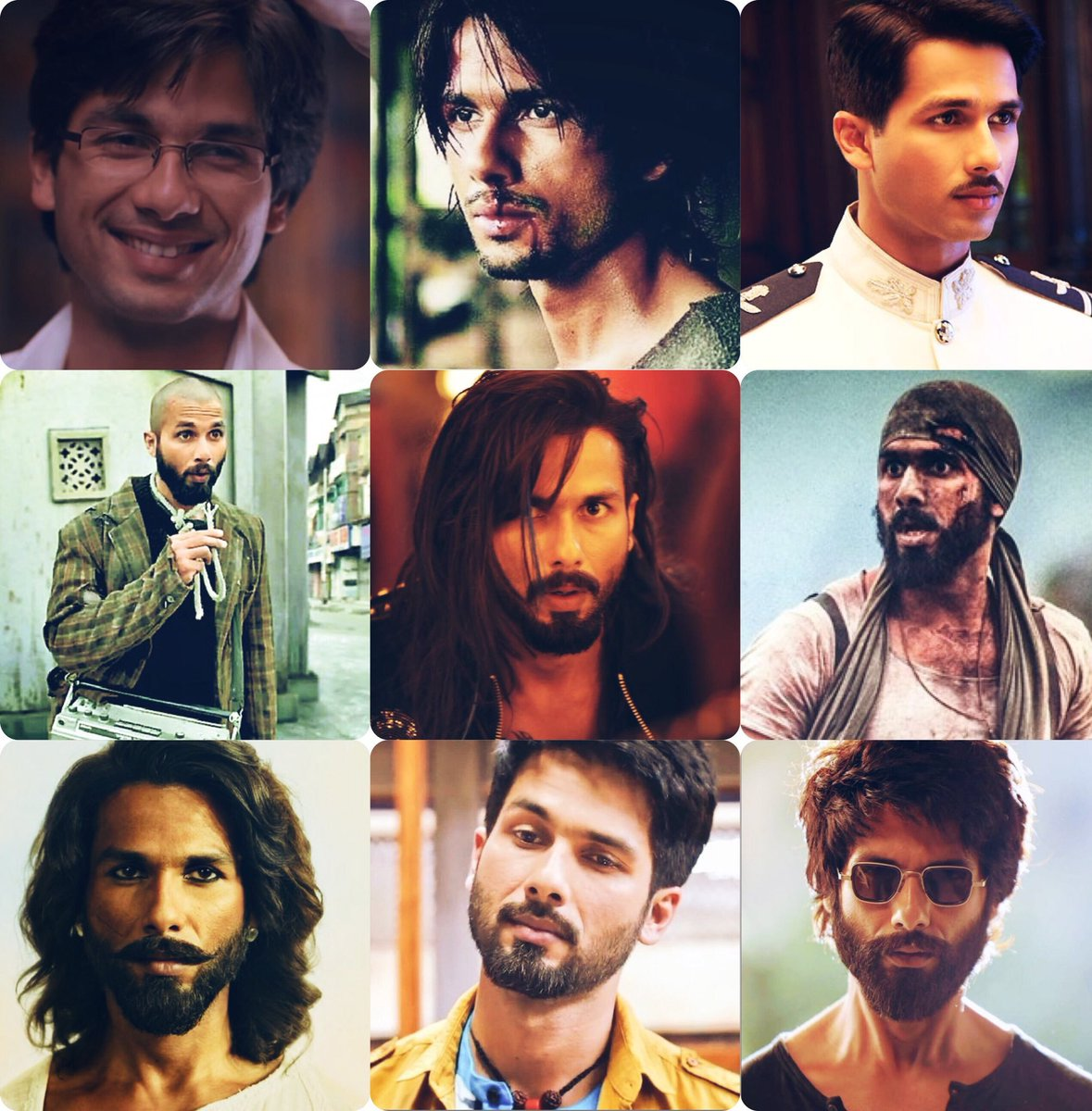 Replying to @Worships_Shahid: One Man different shades , Shahid Kapoor for you. ❤