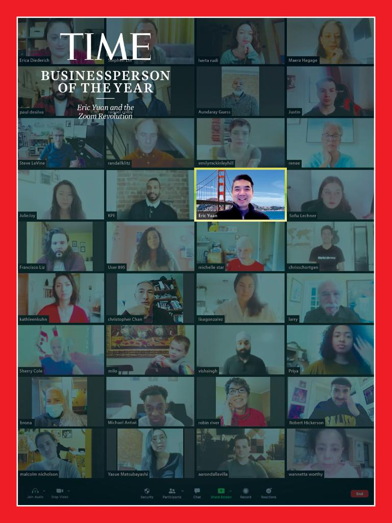 Zoom's founder and CEO @ericsyuan is TIME's 2020 Businessperson of the Year #TIMEPOY