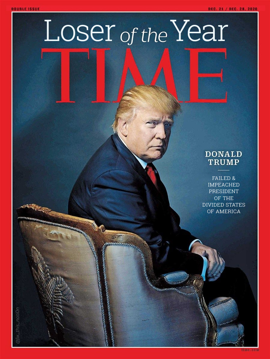 @MeidasTouch Loser of the year. #TimeLoserTrump