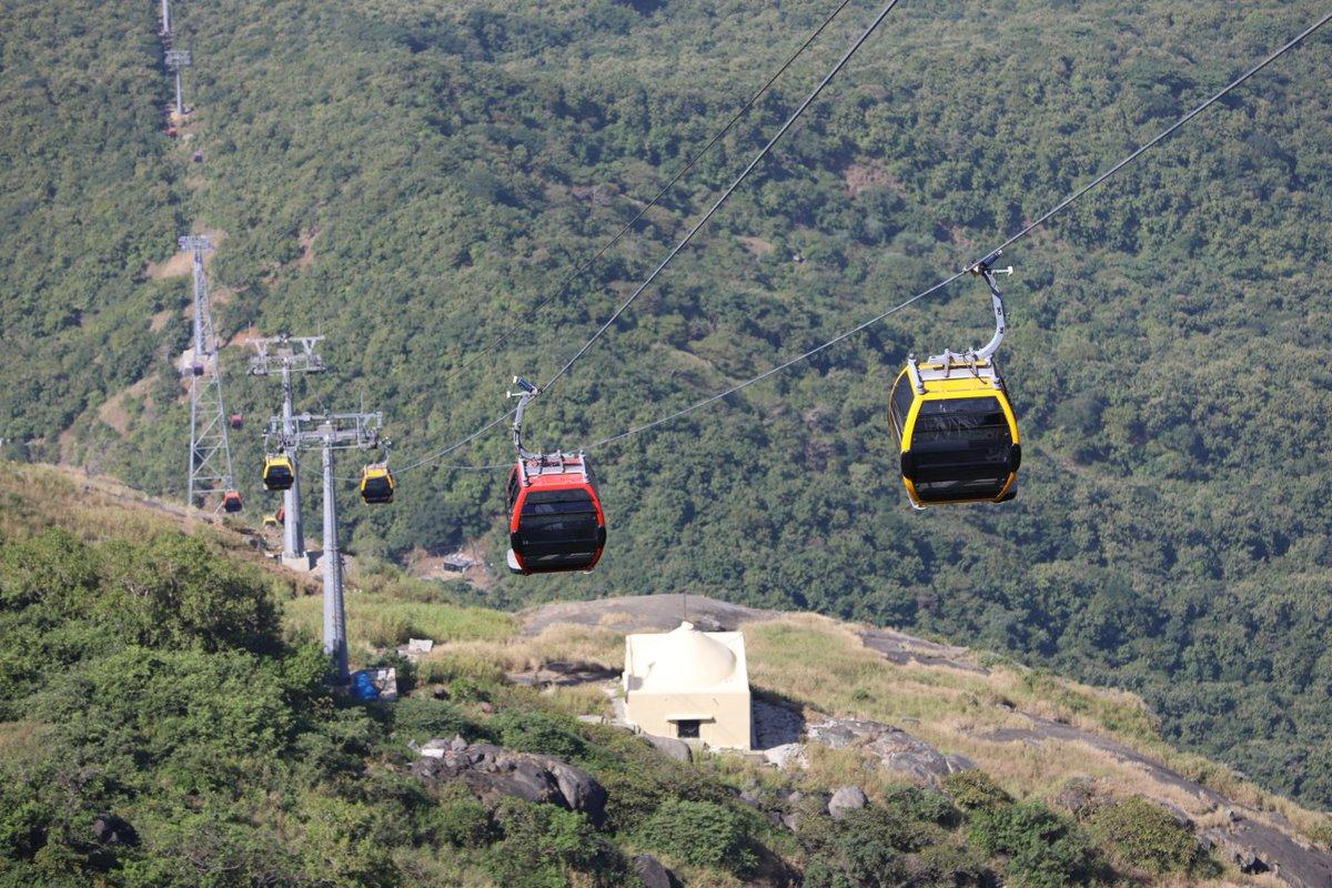Girnar ropeway crosses 1 lakh visitor landmark in just six weeks