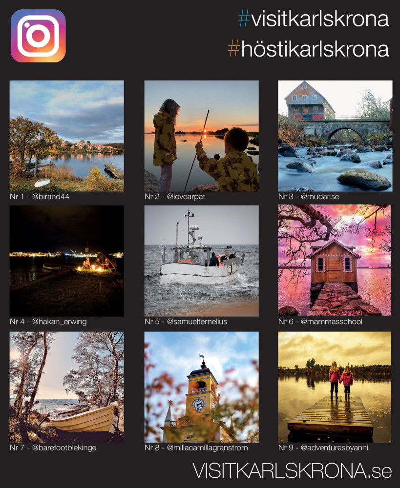Rösta på årets höstbild - 9 finalister finns nu utställda på Stortorget i Karlskrona! https://t.co/WiHqapgcg6 https://t.co/liLG7OvU5P