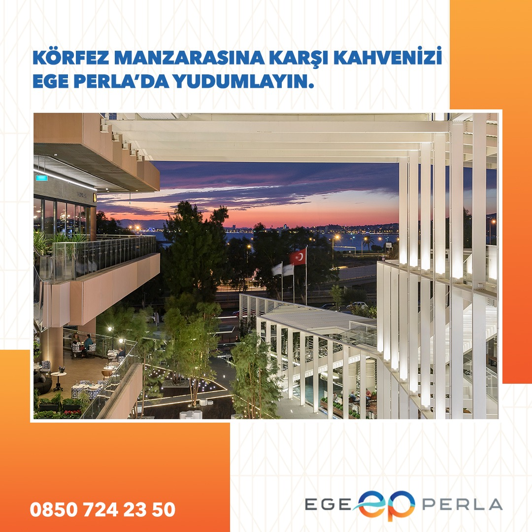 Ege Perla'da benzersiz körfez manzarasına karşı temiz hava almak ve kahvenizi yudumlamak ister misiniz?   #egeperla#işgyo #isgyo#izmir#yaşam #konfor https://t.co/o761FEQwMl
