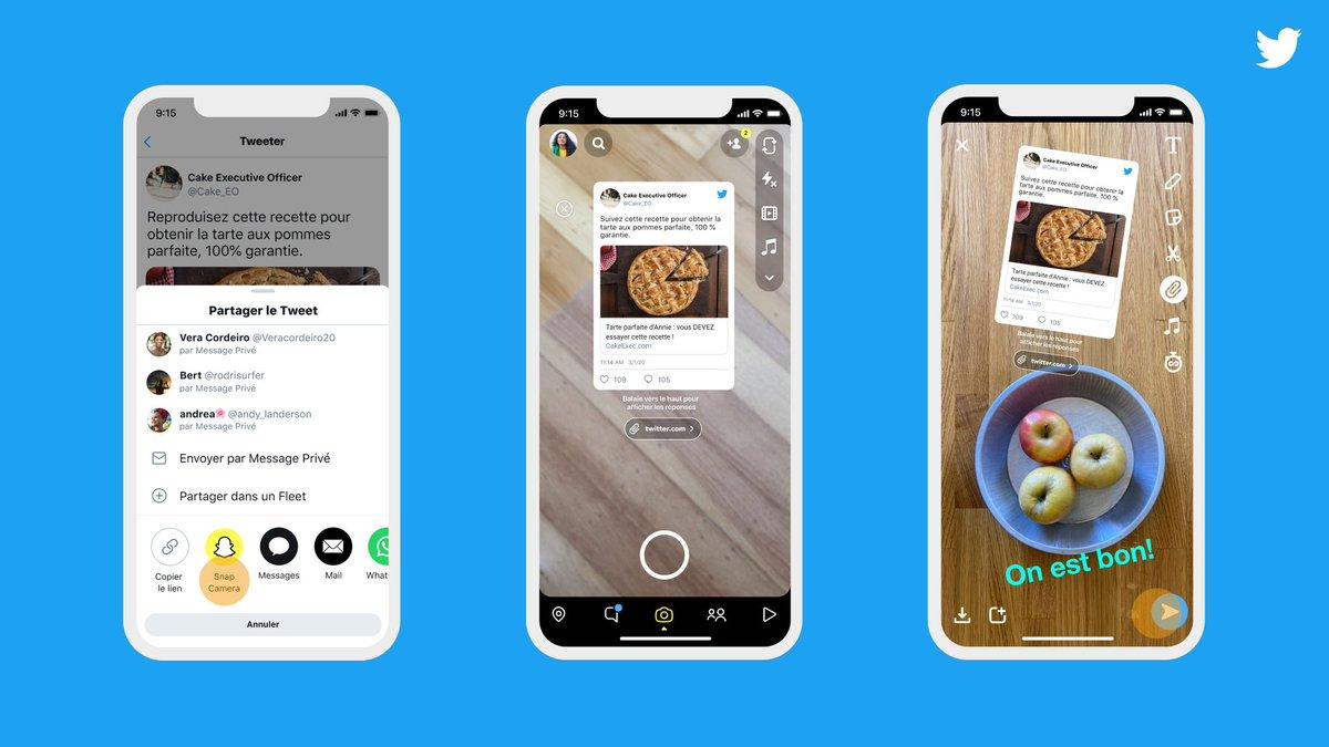 Partager des Tweets dans vos Stories Snapchat est devenu encore plus facile.  A présent disponible sur iOS ! https://t.co/vf0jeOhyXG