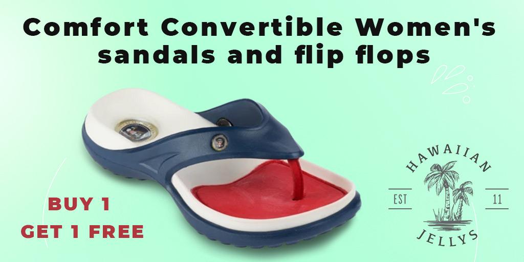 Comfort convertible women's sandals and flip flops #flipflops #sandals #feet #leathersandals #Slipaaahs #slippers #flipflopseason #fashion #summer #hawaiianjelly #shoes #dressshoes #onlineshopping #foot #heels #kidsfeet #chinelo #convertiblesandals #patrioticsandals #footwear