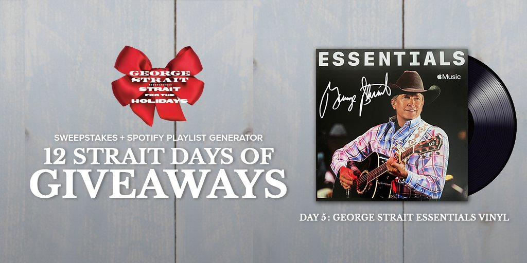 """I'm dreaming of a..."" George Strait Christmas. ❄️ 🎄   Enter to win today's prize:"