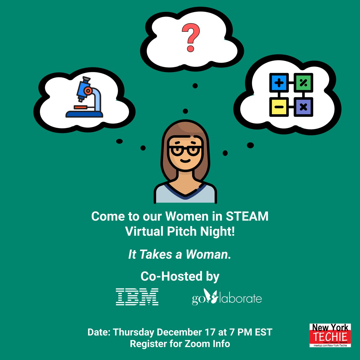 Register for our Women in STEAM Virtual Pitch Night! Join us at 7 PM EST on Thursday, December 17.     #Startup #Ideas #PitchNight #StartupLife #startups #DigitalMarketing #goElaborate