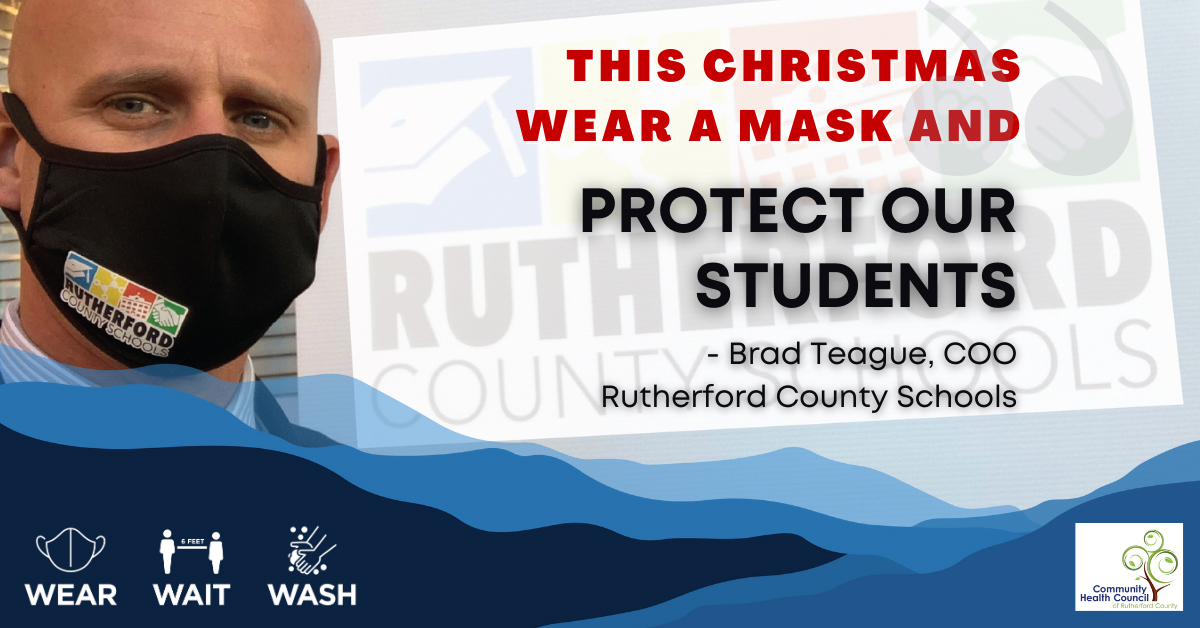 Replying to @RutherfordNc: In Rutherford County This Christmas, Wear a Mask and Protect Our Students. #wearthemask