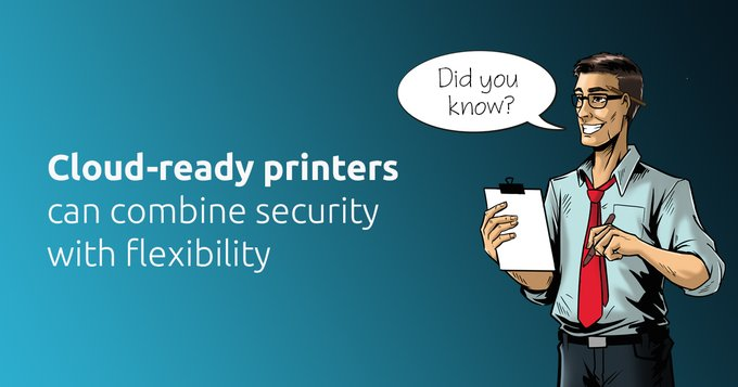 Twitter - Did you know? Cloud-ready printers ️ can combine s