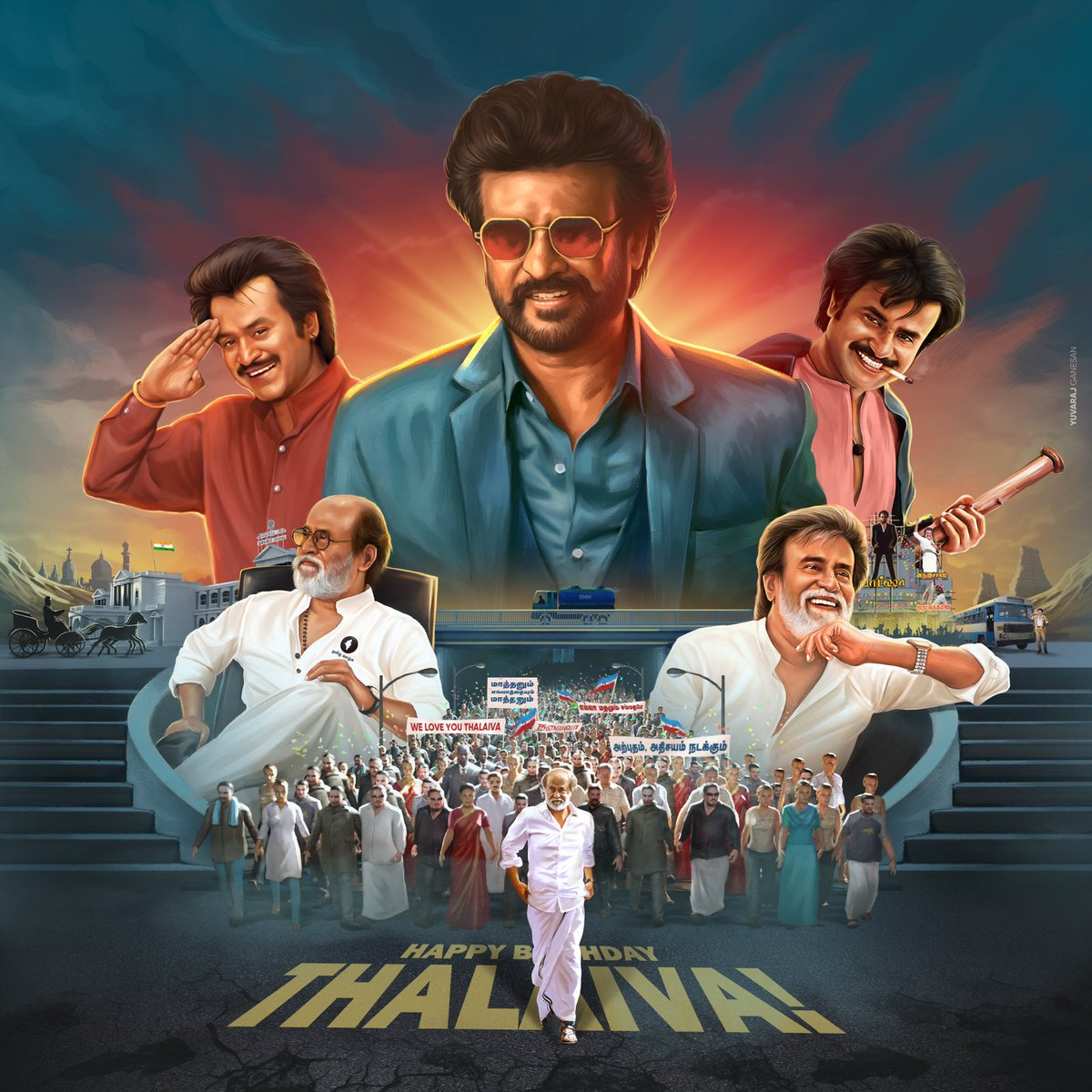 The Biggest Inspiration and Epitome of Humanity!  Extremely Honoured to release our beloved Superstar @Rajinikanth's 70th Birthday CDP 🤘  Thank you sir for constantly inspiring us to be better actors and better people as well!  #HBDSuperstarRajinikanth