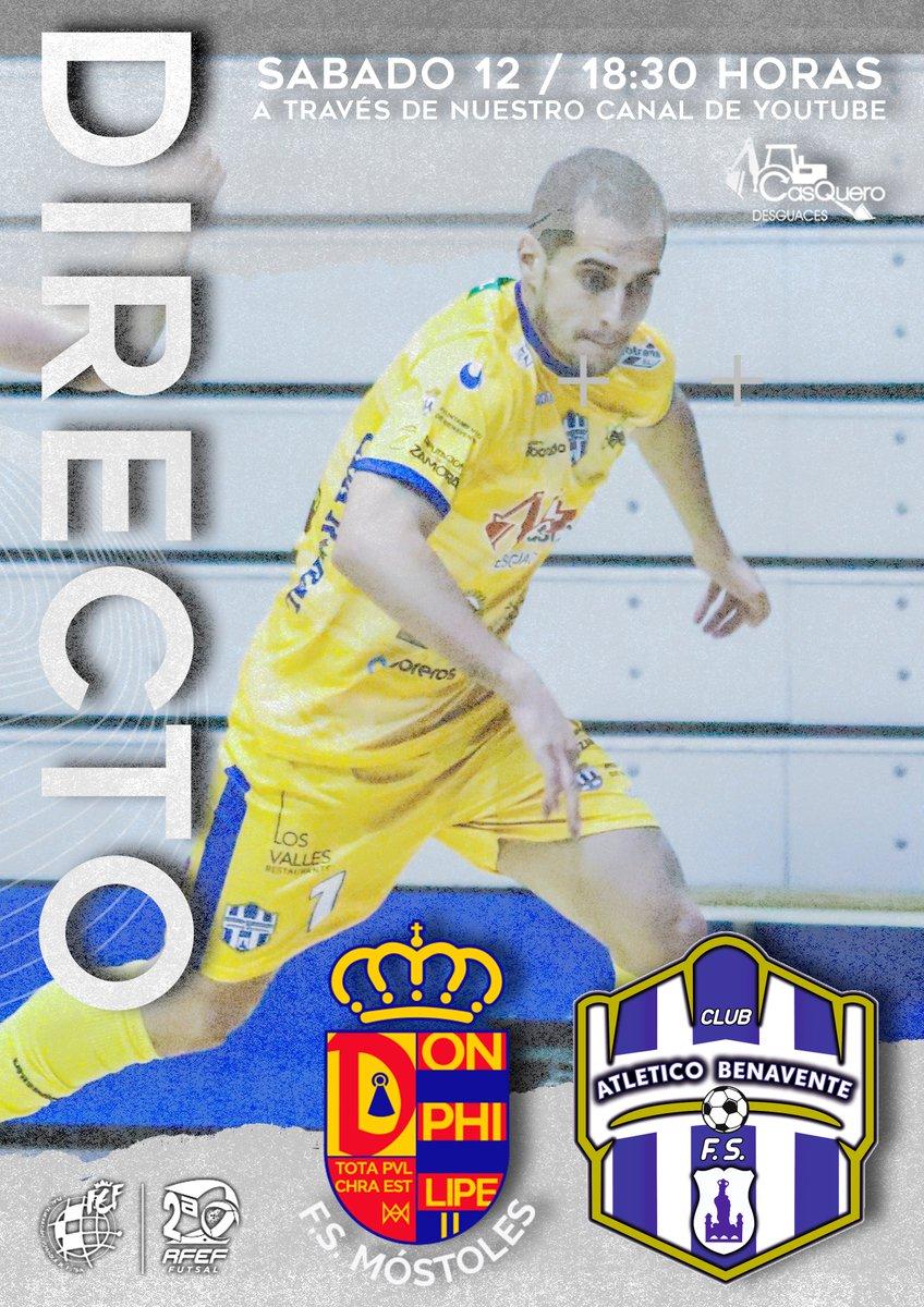 Continuamos con la Segunda División de Fútbol Sala, este sábado nos desplazamos hasta las pistas del Mostoles F.s, podrás seguirlo en directo a través de nuestro canal de YouTube a partir de las 18:30 Horas. #aveceslossueñossecumplen #SomosFutsal #SomosFederación