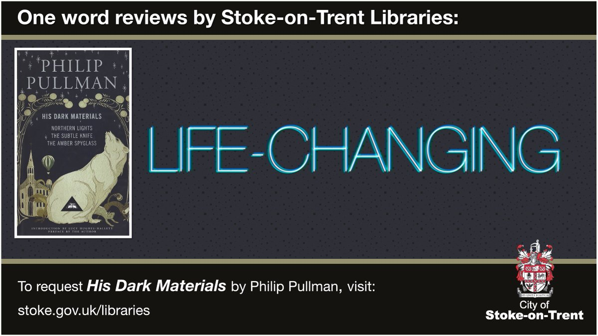 One Word Reviews: #lifechanging   Have you read this week's #onewordreview book? What word would you use to describe it? Let us know in the comments.  Request His Dark Materials from Stoke-on-Trent Libraries, here:   #books #reading #onewordreviews