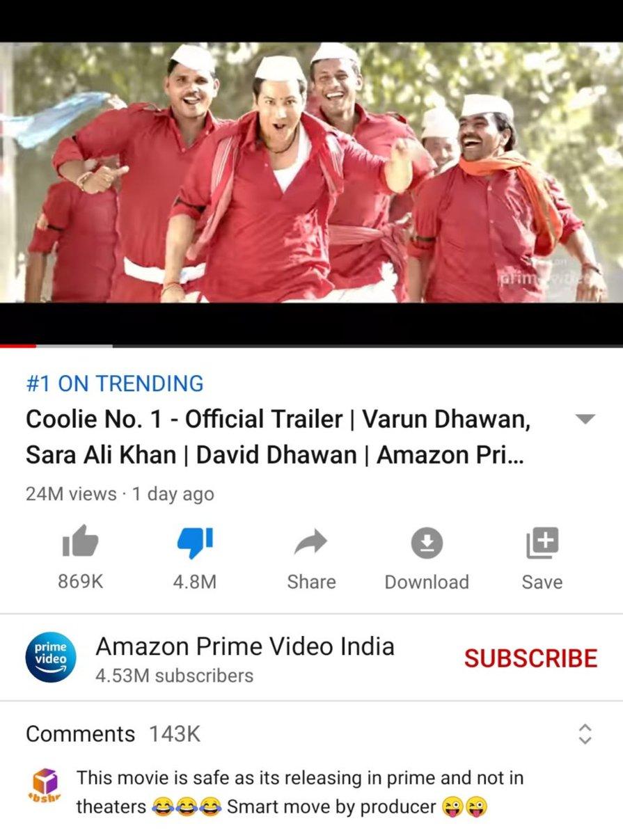@vidit_sethi @Varun_dvn Yes @Varun_dvn @jackkybhagnani @poojafilms  ThisSpecial Gift is for You Guys 😊 Enjoy!don't worry be Happy 😊The Game has just Begun✌🏻🤘✊💪 #HyderabadRoars4SSR  #BoycottCoolieNo1 #CoolieNo1Trailer #CoolieNo1OnPrime #CoolieNo1 #SaraAliKhan #VarunDhawan  #BoycottBollywood
