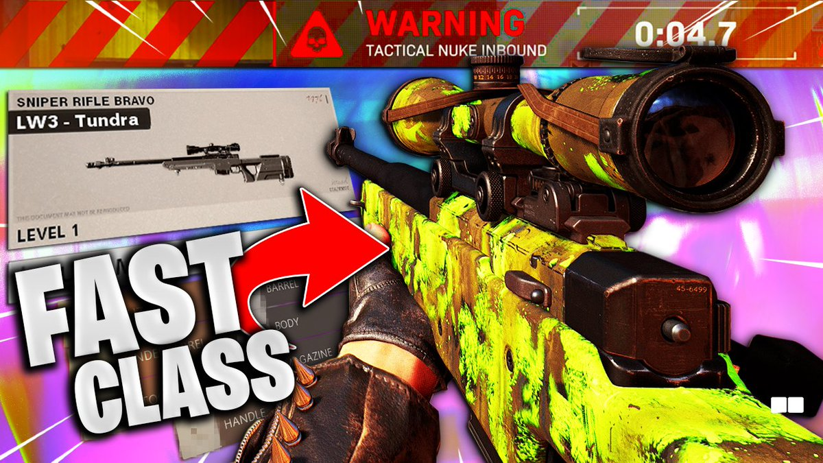 Buzro - 🚨 NEW VIDEO 🚨   Here is the best class setup and loadout for quickscoping with the LW3 Tundra.  I hope you guys enjoy! 🐑♥️  📺: