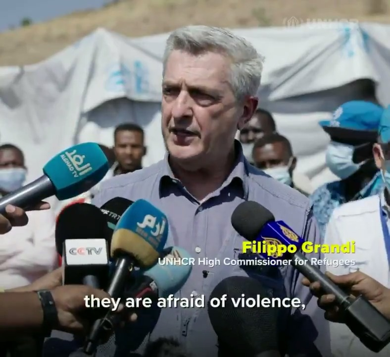 A crisis on top of crises - first COVID, now forced to flee their homes.  In Sudan, UNHCR chief @FilippoGrandi meets Ethiopian refugees from Tigray and launches an appeal for nearly US$150m.