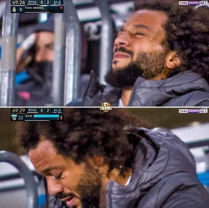 Man I know he's declined a lot from his prime, but seeing ur hero like this, it hurts us as well. Marcelo 🥺😭❤️ #Marcelo12 #Realmadrid #Halamadrid
