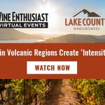 Image for the Tweet beginning: Wine Enthusiast hosted a webinar