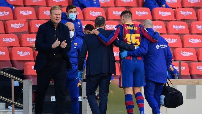 Lenglet left the Barcelona vs Osasuna match injured