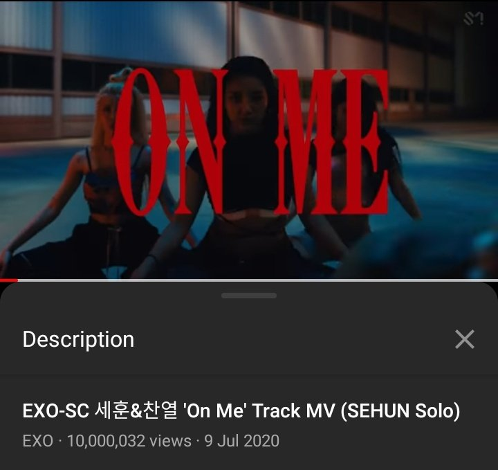 We did it!! #On_Me hits 10M !!!!  Well done #EXOL   #weareoneEXO #WeAreONE #EXO #EXO_SC #SEHUN #SEHUN_On_Me #SEHUN_CHANYEOL #CHANYEOL #letslove #1BillionViews