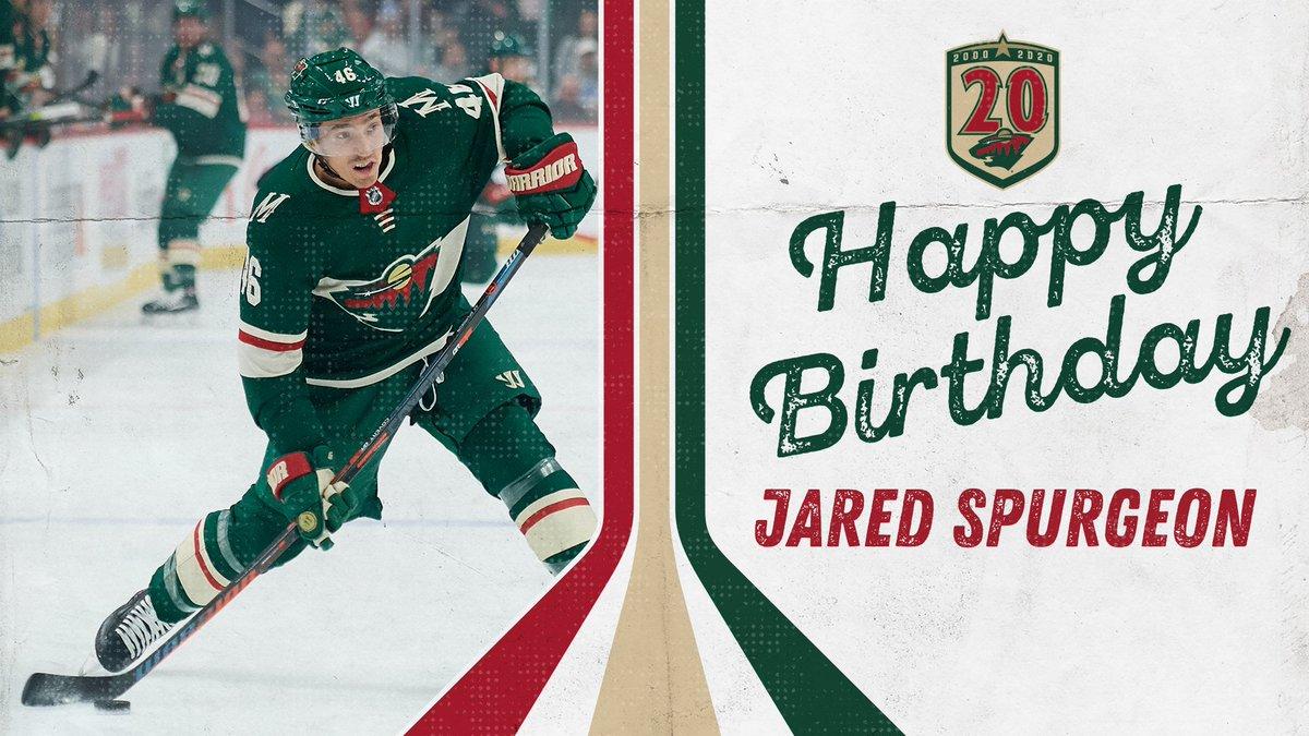 Go Spurg - it's ya birthday. 🥳  #mnwild https://t.co/zyJybf7rFt
