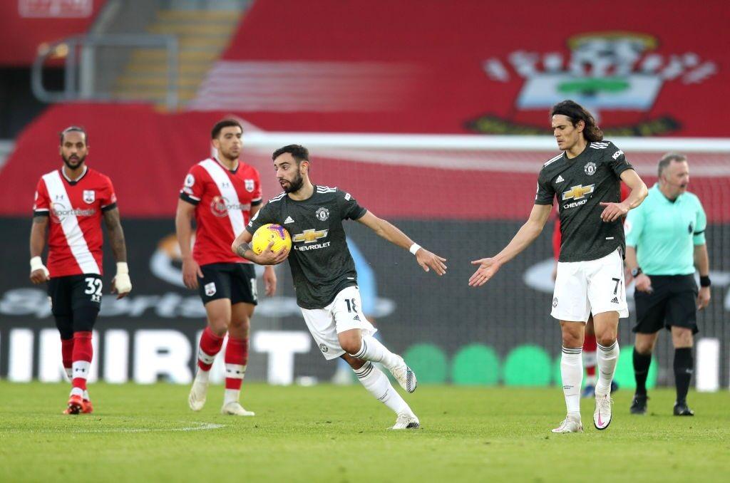 Bruno Fernandes has been involved in #mufc's last five Premier League goals 🎩   4 goals ⚽️  1 assist 🎯