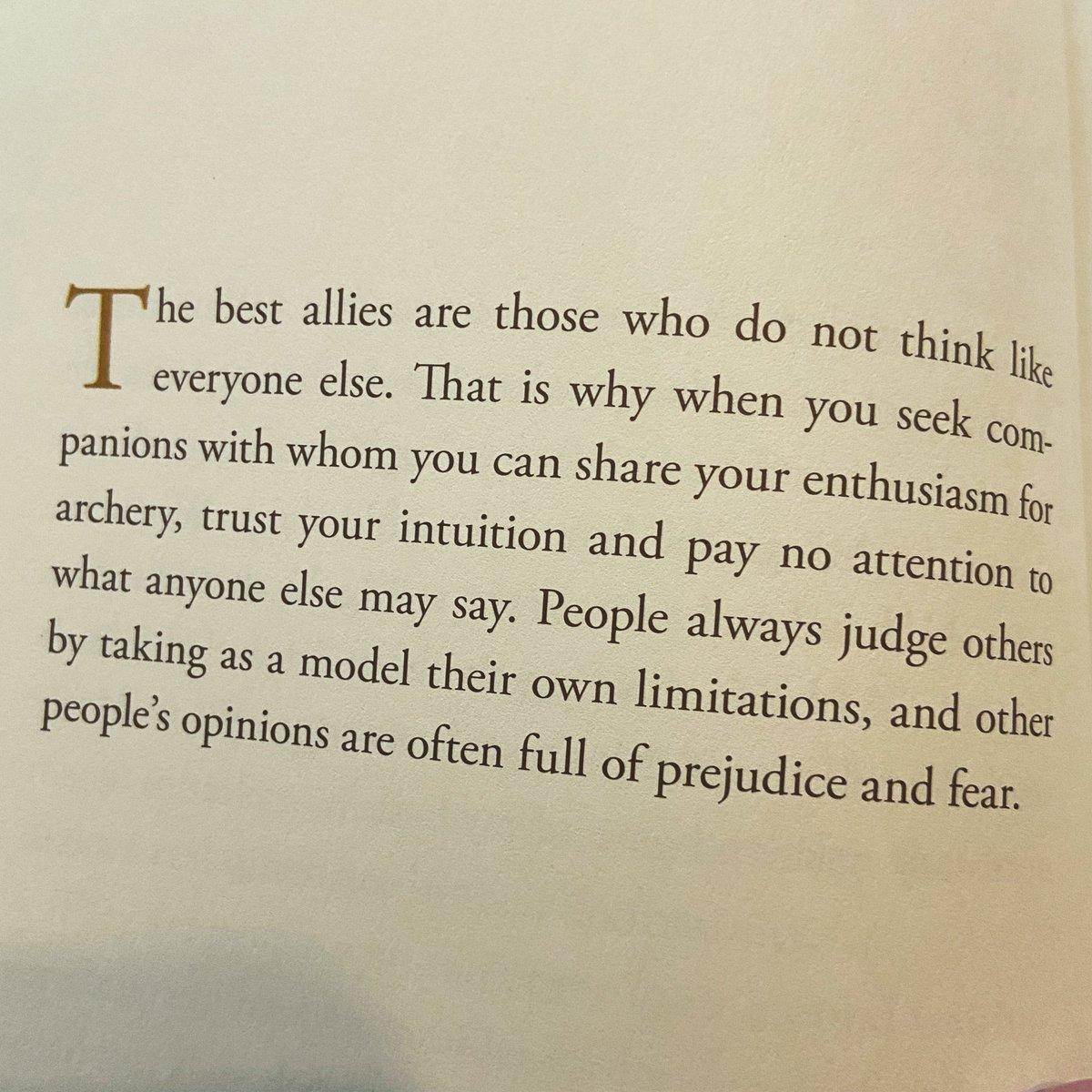 Trust your intuition...#prejudice #fear #SundayReads @bookpoets @reading_guru #TheArcher @paulocoelho #limitations 📖❤️