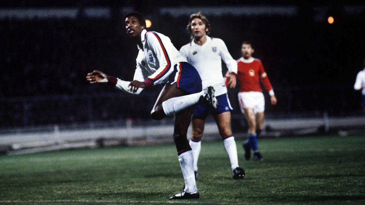An important moment in #ThreeLions history.  #OnThisDay in 1978, @Anderson_Viv became the first Black player to represent our senior men's team in a full international.