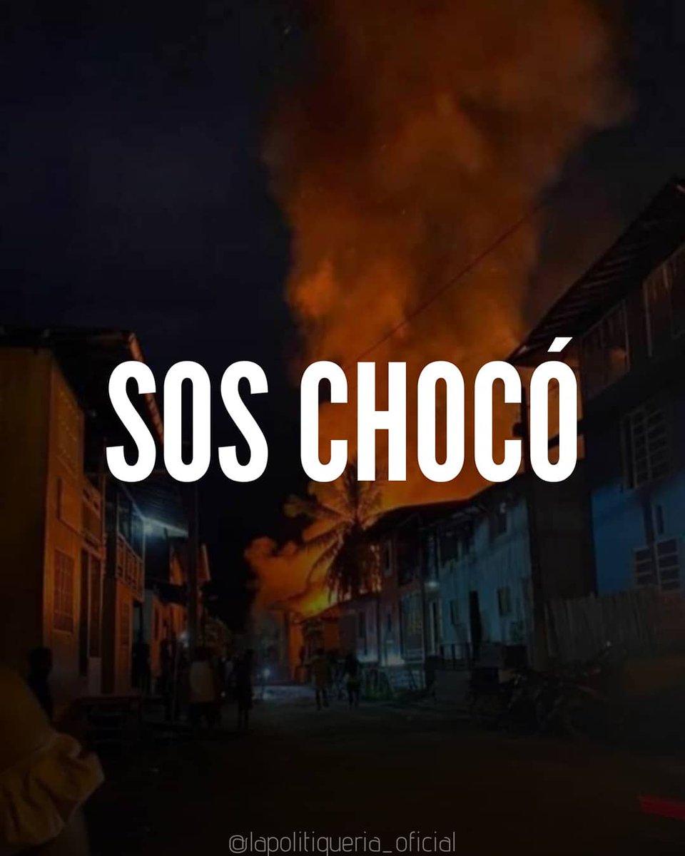Riosucio, Chocó arde en llamas. ¿El culpable? un tradicional olvido estatal que dejó al municipio sin cuerpo de bomberos ni alcantarillado.