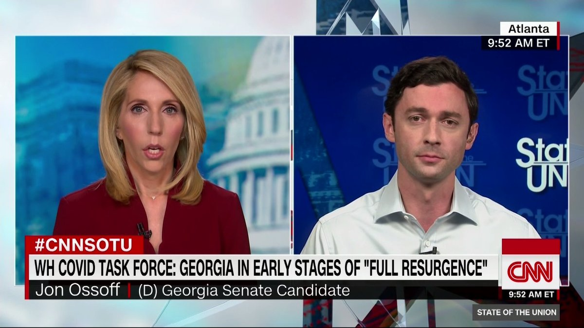 """Although the Justice Department declined to pursue charges against Sen. David Perdue for insider trading, his Democratic opponent Jon Ossoff doubled down on calling him a """"crook"""" for """"exploiting his power to enrich himself while his own constituents are suffering and dying"""""""