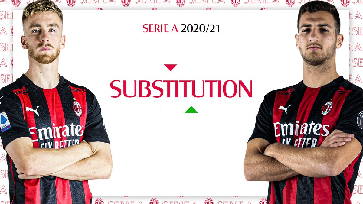 ⏱ 90+1' Final sub: Saelemaekers is spared the final minutes as @DalotDiogo comes on #MilanFiorentina 2-0 #SempreMilan