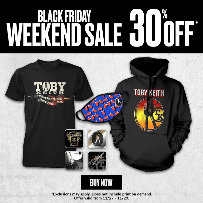 @tobykeith It's your last chance to shop the #BlackFriday sale in the Toby Keith store!