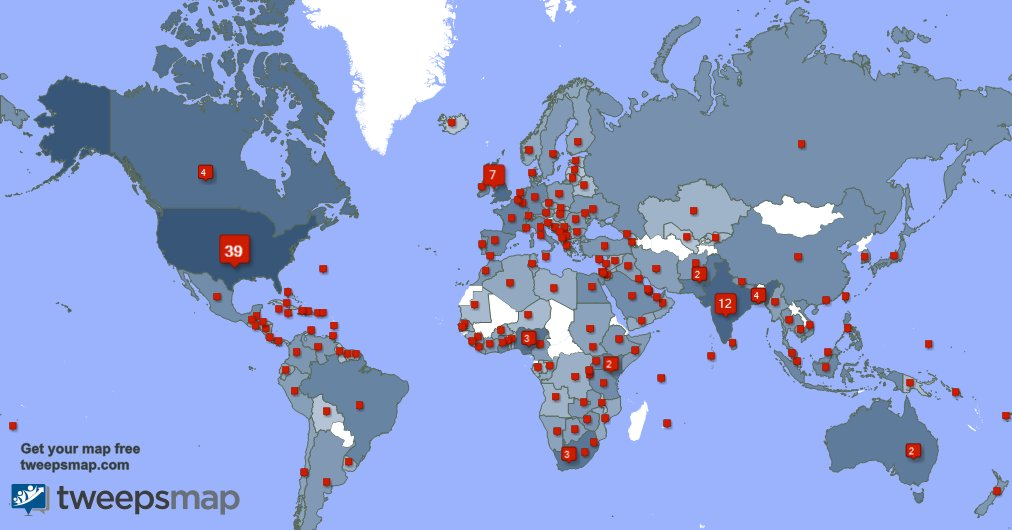 I have 216 new followers from USA, India, Australia, and more last week. See