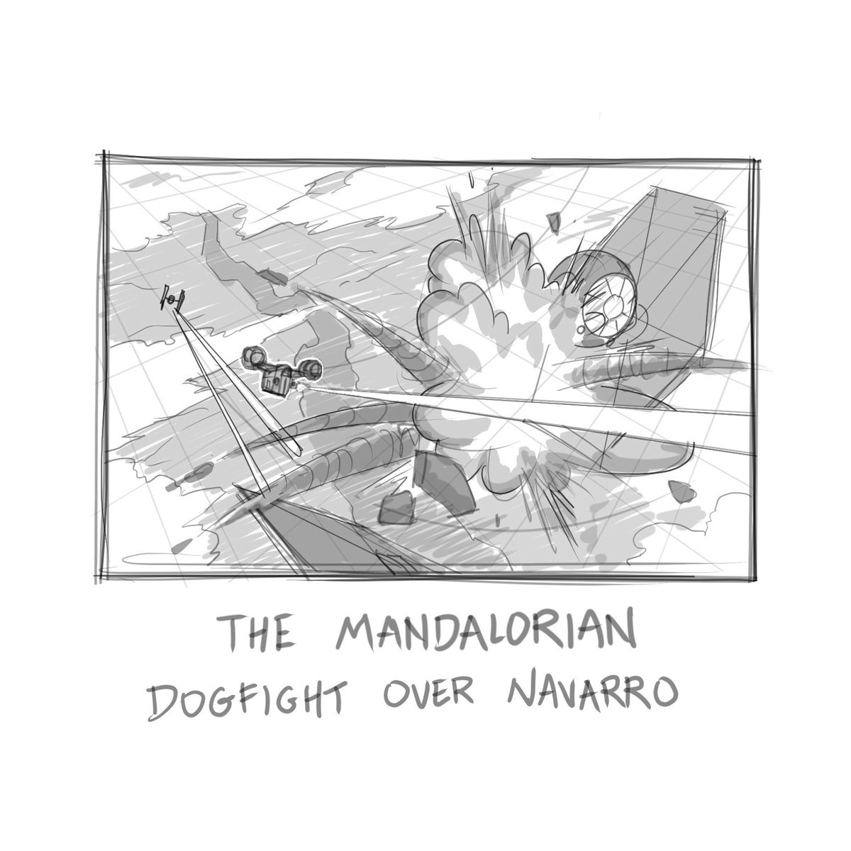Rough thumbnail sketch for my next Mandalorian piece, inspired by the awesome dogfight scene in season 2, episode 4 😁 Stay tuned for more and hope everyone had a good and safe Thanksgiving #themandalorian #razorcrest #tiefighters #thisistheway #ipadpro #procreate #starwars #art https://t.co/SziWIUwpeG