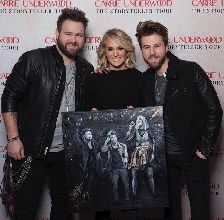 Awe sure miss this tour and this awesome Okie! @carrieunderwood #Thestorytellertour