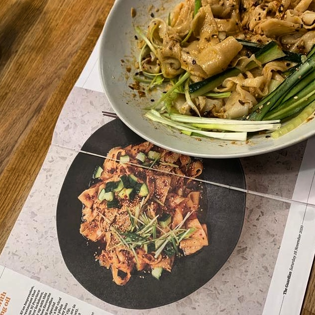London Daughter's take on biang biang noodles using Sichuan peppercorns.