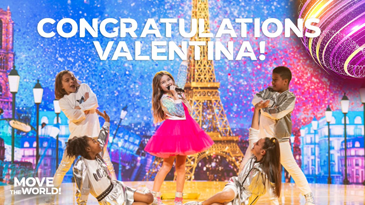 🏆 THE WINNER OF #JESC2020 IS... FRANCE! 🇫🇷   CONGRATULATIONS VALENTINA! 🌈  #MoveTheWorld https://t.co/8rFWZ1doU2