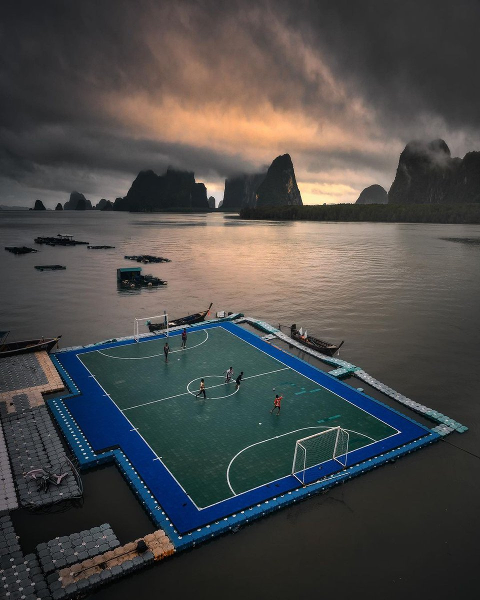 Name a better place to play ⚽️ #HelloFrom Ko Pan Yi, Thailand 😲