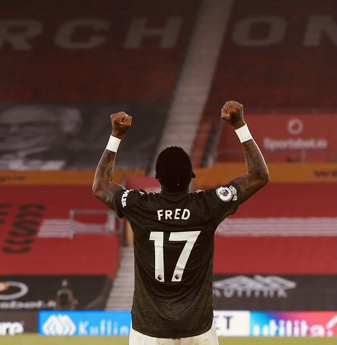 Fred has started 11 games for #MUFC this season:  ✅ 3-0 vs. Luton ✅ 3-0 vs. Brighton ✅ 4-1 vs. Newcastle ✅ 2-1 vs. PSG 🤝 0-0 vs. Chelsea ✅ 5-0 vs. RB Leipzig ❌ 0-1 vs. Arsenal ✅ 3-1 vs. Everton ✅ 1-0 vs. West Brom ✅ 4-1 vs. Başakşehir ✅ 3-2 vs. Southampton @StatmanDave https://t.co/LlkuGi21p7