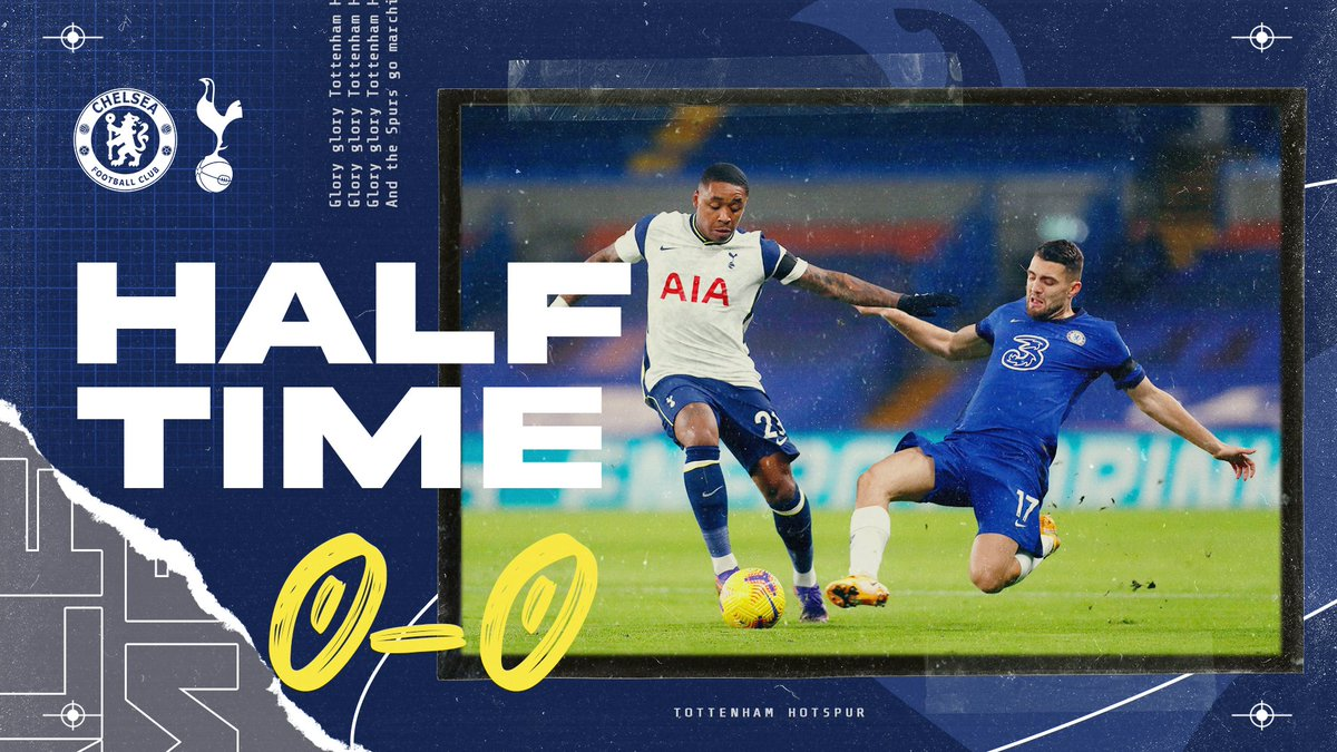 RT @SpursOfficial: HALF-TIME: Chances at both ends but it remains goalless at the break.  🔵 #CFC 0-0 #THFC ⚪ https://t.co/dDrg4rYdbQ