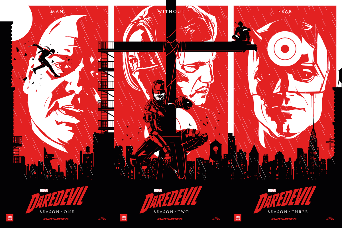 Here's something special: this new Daredevil triptych by the incredible @RicoJrCrea was commissioned by @DaredevilSub + the #SaveDaredevil team. It's a love letter from us to ALL of the ppl who made this show possible 💌   @MarvelStudios @Disney @Kevfeige