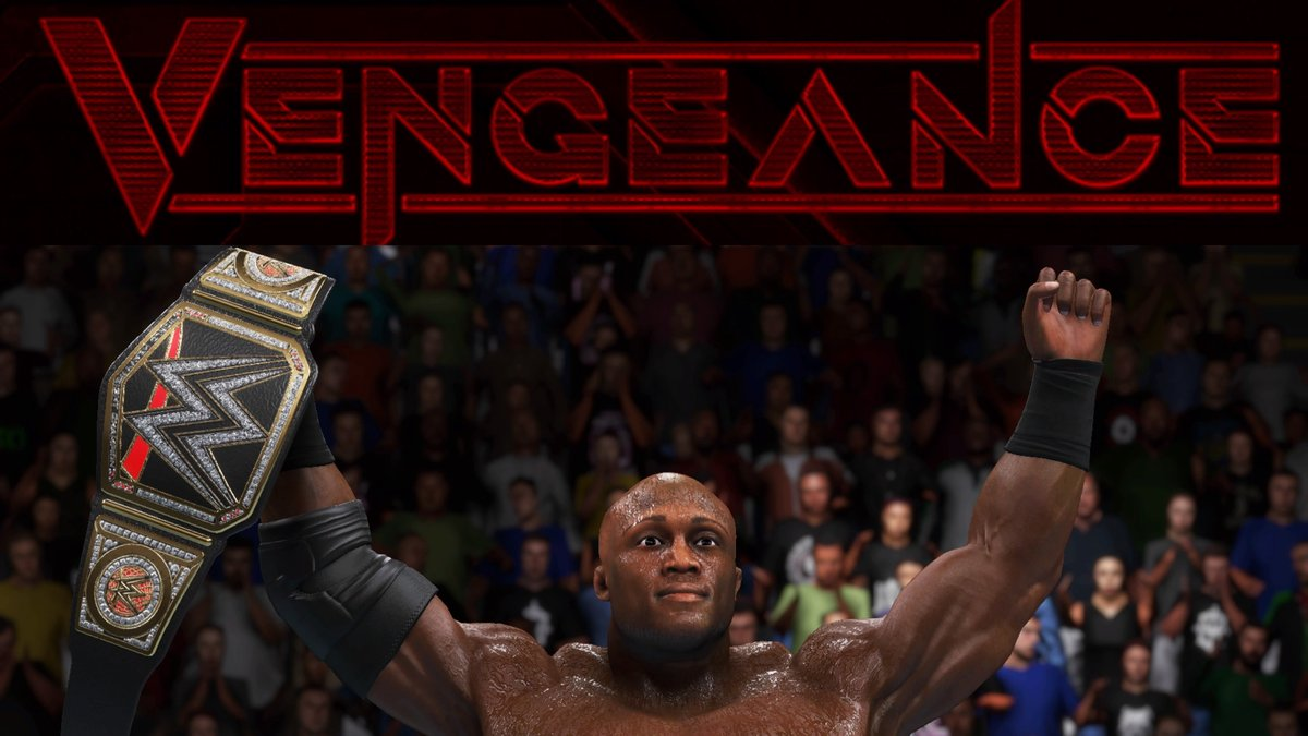 #ANDSTILL WWE Champion Bobby Lashley after defeating Big E in the main event of #Vengeance! https://t.co/xafcsWe03Y