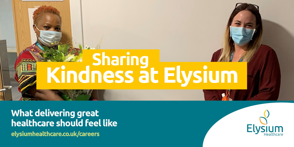 Being kind is something that comes naturally to us at Elysium. To mark #WorldKindnessDay, Elysium sent #ChadwickLodge a bouquet of flowers so that they can spread kindness around and give them to a member of staff of their choice. Well done to Sazi on receiving the flowers!