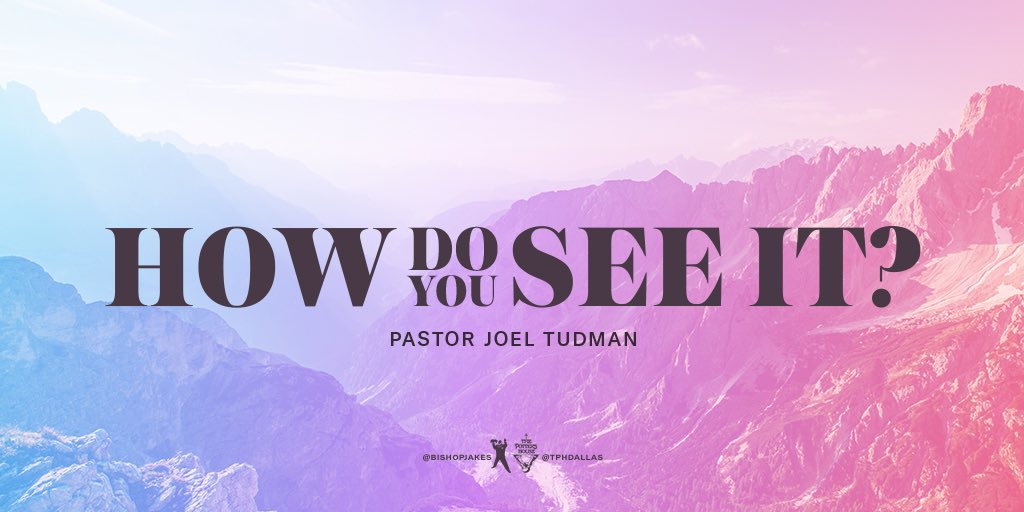"""Thank you for joining us online today! Be sure to watch the rebroadcast of """"How Do You See It? TONIGHT at YouTube.com/TDJakesOfficial or via the T.D. Jakes Mobile App! #HowDoYouSeeIt #SundayService #TPHDallas"""
